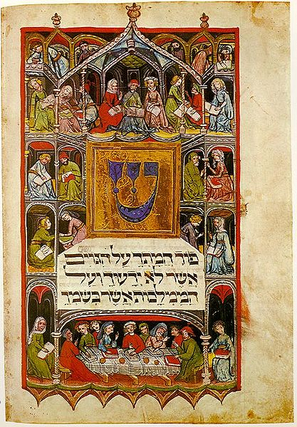 417px-Haggadah_14th_cent